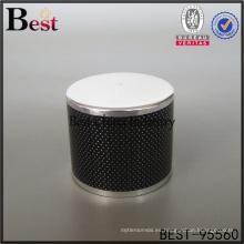 tapón de botella de perfume de zamac negro metal para botellas de perfume muestra gratis alibaba