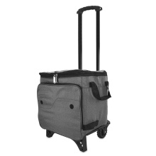 Trolley Picnic Foldable Insulated Cooler Bag with Wheels