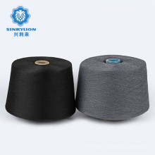 Ring 100% polyester core dope dyed spun polyester yarn for knit