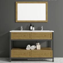 Popular armário de banheiro minimalista de alumínio