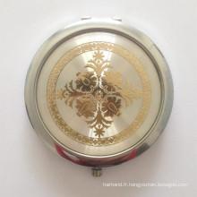 Miroir cosmétique portable avec époxy (BOX-14)