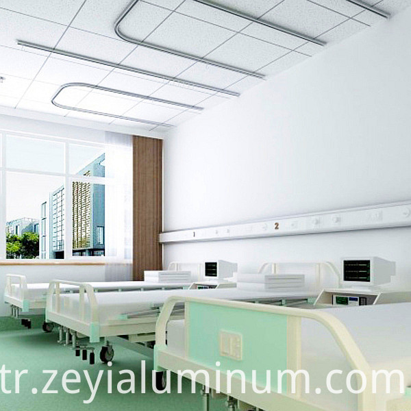 Medical curtain track aluminum profile