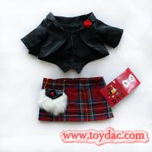 Plush Bear Toy`S Black Skirt