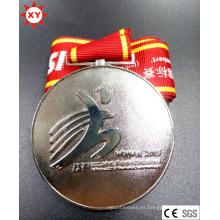 Medalla de plata de muestra gratuita con su logotipo