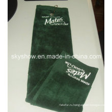 Вышитые, 100% хлопок полотенце для гольфа для спорта