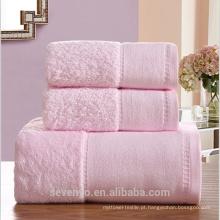 100% algodão super macio lindo conjunto de toalha de alta qualidade