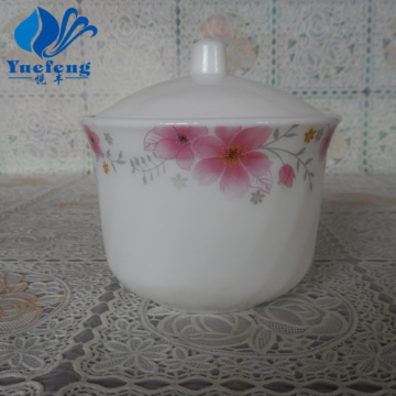 Opal Glass Pressing Sugar Pot With Lid