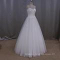 Simple vestido de novia una línea