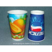 Taza de papel de 16 onzas (taza caliente / fría) tazas de café de consumición, tazas de la bebida fría