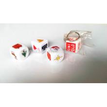 2,5 CM Kunststoff Benutzerdefinierte Druckwürfel