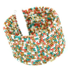 2015 Summer beach Boho Chic Multi-row Bead Connected Bracelet