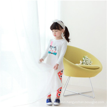 Autumn Girls White T-shirts Long Tail T Shirt, Plain No Brand T-shirt Dress For Kids