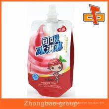 2015 heißer Verkauf 85ml Saftgetränk oder Eiscreme-Auslaufbeutel für Schätzchen mit hochwertiger Qualität