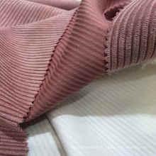97% Polyester 3% Tissu en velours côtelé en nylon de 8 Pays de Galles