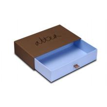Boîte d'emballage sur mesure pour vêtements avec plateau à tiroir