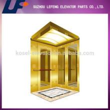 Tracción del ascensor de pasajeros de la máquina, Espejo de acero inoxidable Ascensor / Cabina de elevación
