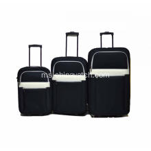 Set Light Luggage Koper Spinner Blackweaver