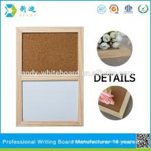 magnetic combination cork board and white board