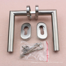 Narrow door Tubular Stainless Steel Material Door Handle Vintage Hardware on oval escucheon
