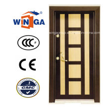 Cadre décoratif MDF Armored Security Steel Wood Doors (W-T07)