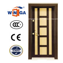 Decorative Frame MDF Armored Security Steel Wood Doors (W-T07)