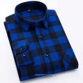 Chemise mode en flanelle 100% coton pour homme