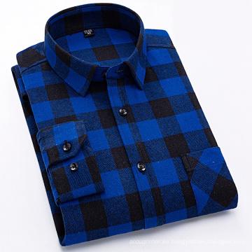 Camisa de franela 100% algodón de moda para hombre