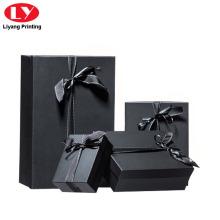 Cardboard Matte Black Jewelry Box Packaging