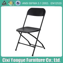 Cadeira de dobradura plástica preta do quadro do metal para eventos do casamento