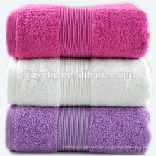 toallas de baño dobby border purple