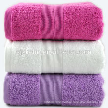 dobby border roxo toalhas de banho