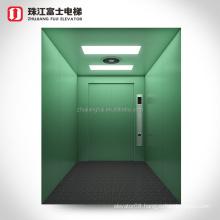 ZhuJiangFuJi Brand Freight Lift Cargo Elevator With Painted Cabin And Doors