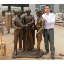 Escultura de bronce personalizada de tamaño natural para Memorial Mounment