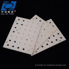 placas de quemado cerámico de alúmina de resistencia al desgaste