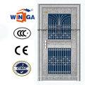 304 aço inoxidável exterior de aço inoxidável porta de vidro de segurança (W-GH-25)