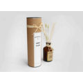 Brown glass 60ml reed diffuser with flower in kraft package for home