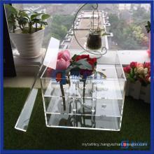 Acrylic Rose Storage Box Flower Box with Lid