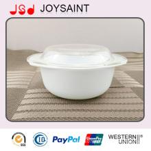 Caçarola de mesa de cerâmica com tampa