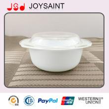 Louça de mesa de cerâmica com tampa