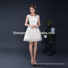 Junoesque Light Yellow Cheap Weddings Bridesmaid Cocktail Boat Neck Evening Dress Wholesale