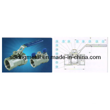 Stainless Steel CF8m 1000psi 1-PC Ball Valve