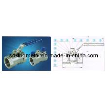 Válvula de esfera de aço inoxidável CF8m 1000psi 1-PC