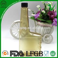 Eco-friendly recyclage personnalisé PVC PVC carré bouteille carré pour l'essence
