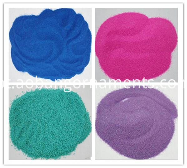 Dyed colorful reptile sand