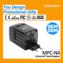 2016 LongRich Travel adapter with double usb for phone