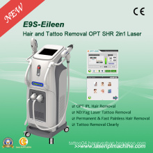 Vertical 2 in 1 IPL Elight Laser Hair Remova Machine