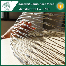 Stainless steel wire riope mesh net /zoo mesh /animal aviary mesh