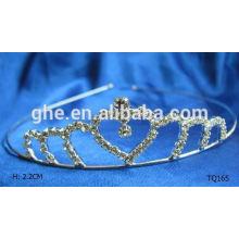 Tiaras de calidad superior de la corona del rhinestone de la venta al por mayor de la manera