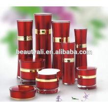15ML 30ML 50ML 60ML 80ML 100ML 120ML Botella de acrílico de la bomba de la loción cosmética de la cintura redonda