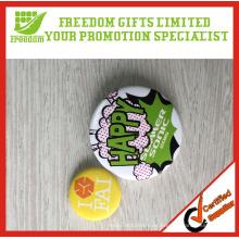 Fabrik-Verkauf kundengebundene Größe und Logo Tinplate Pin Badge